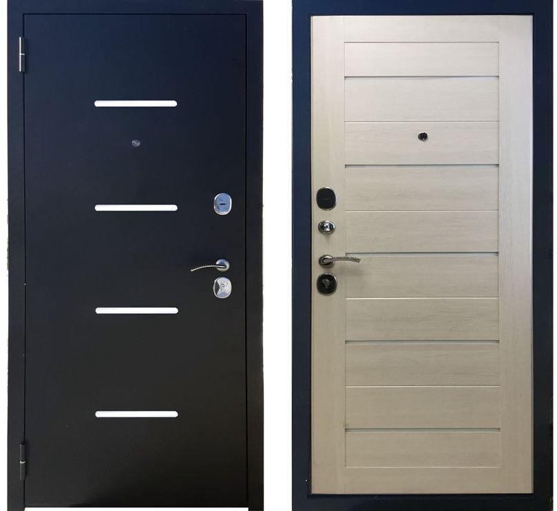 Дверь входная Фортуна Лиственница Бежевая