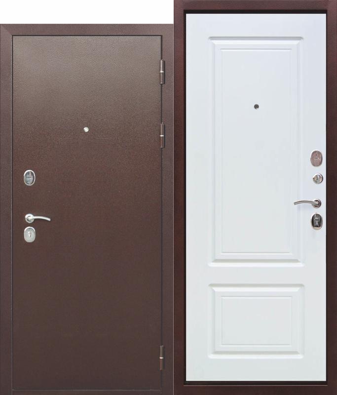 Входная металлическая дверь 10 см ТОЛСТЯК РФ Медный антик БЕЛЫЙ ЯСЕНЬ