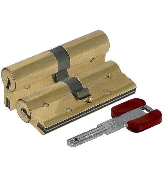 Цилиндровый механизм Cisa (Чиза) RS3 OL3S1-19.66 (80 мм/30+10+40), ЛАТУНЬ