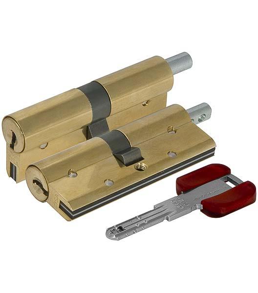 Цилиндровый механизм Cisa (Чиза) под вертушку RS3 OL3S2-18.66 (80 мм/35+10+35), ЛАТУНЬ