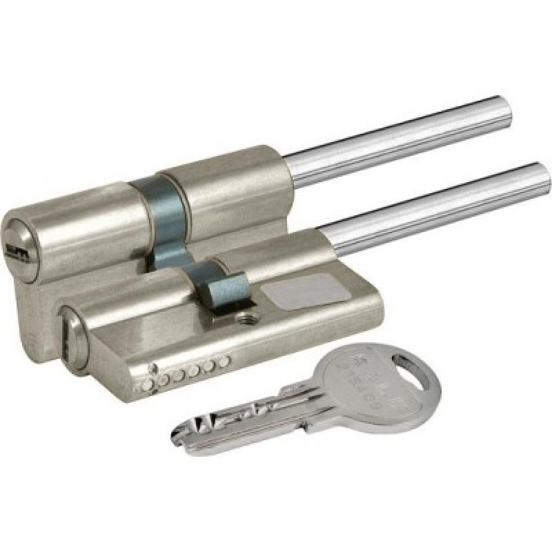 Цилиндровый механизм 164 SX 81мм (45х10х26) никель