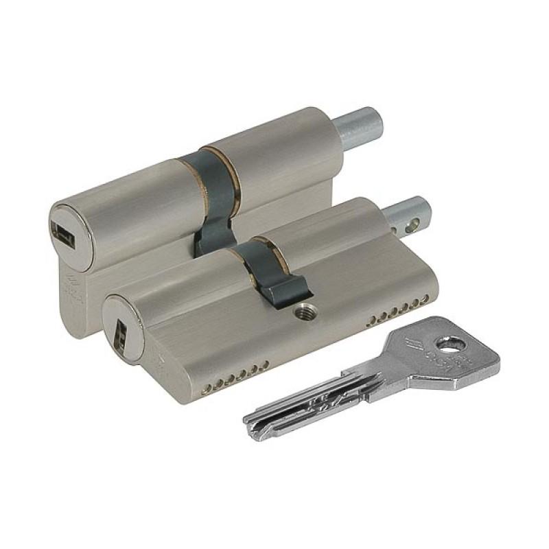 Цилиндровый механизм под вертушку Cisa ASIX OE302-28.12 (75 мм/30+10+35), НИКЕЛЬ