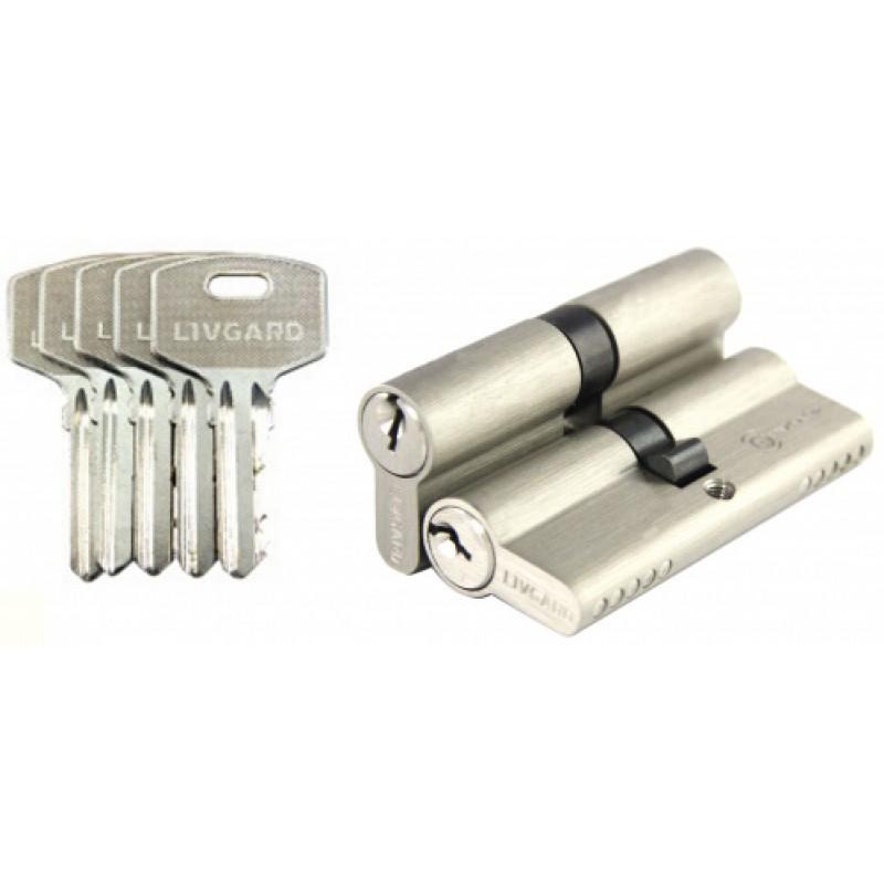 Цилиндровый мех. N 80мм к/к 5 кл. SN мат.никель