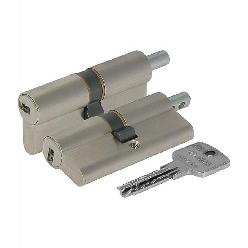 Цилиндровый механизм OA312-18.12 Astral (79мм/34,5+10+34,5) под вертушку никель CISA