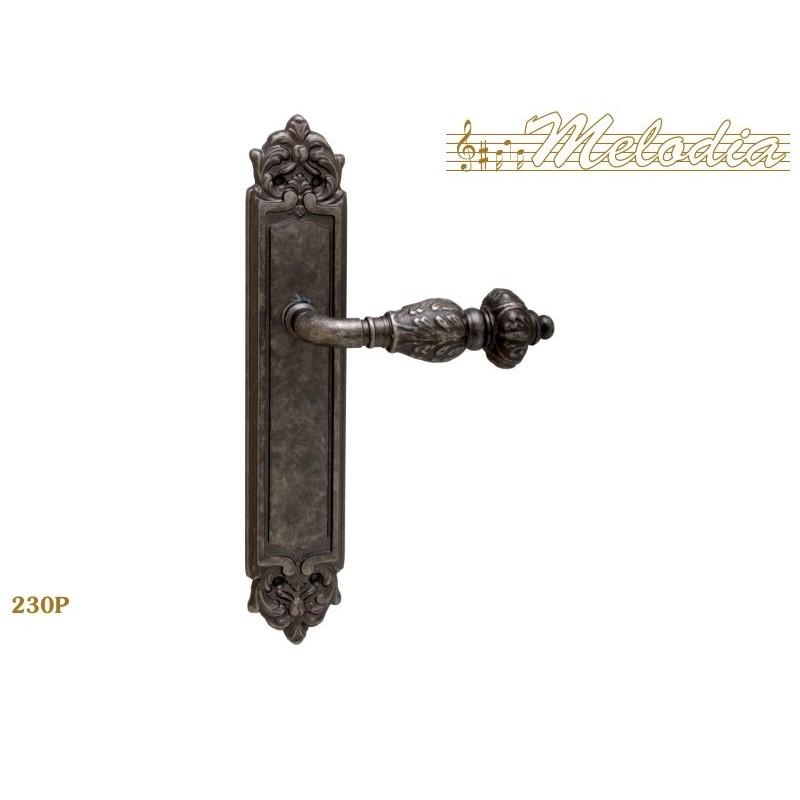 MELODIA Ручка на пластине GEMINI 230 Pass антик серебр ACR