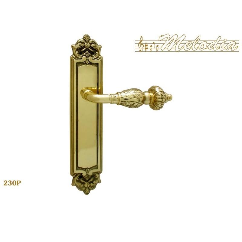 MELODIA Ручка на пластине GEMINI 230 Pass PB полир. латунь