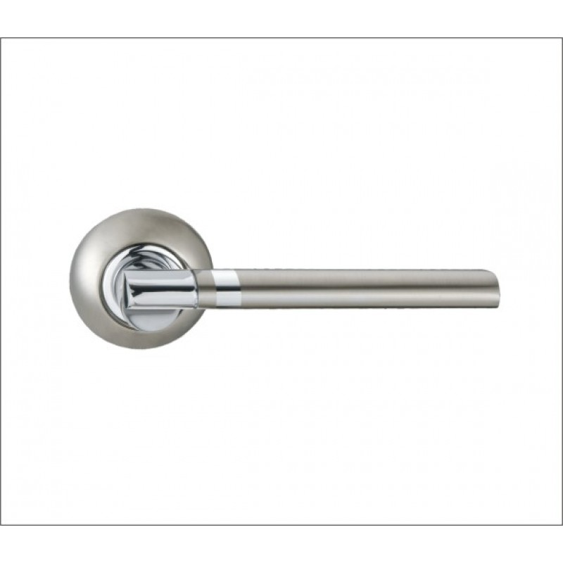 Ручка дверная R 422 SN/CP мат. никель/хром