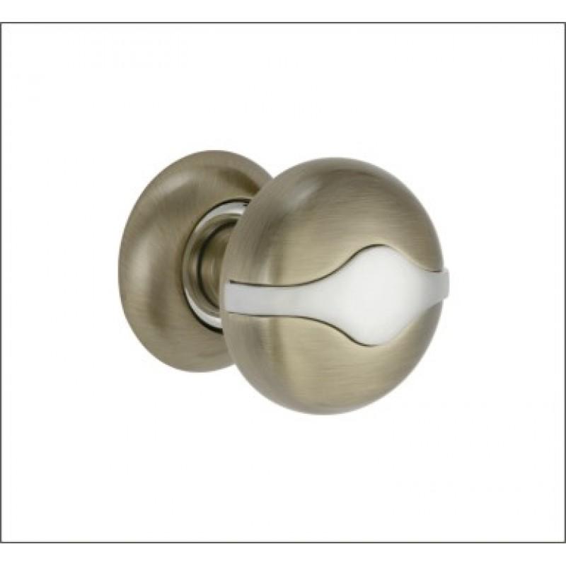 Ручка дверная R 500 A AB/CP (бронза/хром) съемная 00000002406