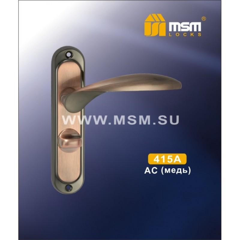 Ручка дверная 415 A AC медь с/ф MSM