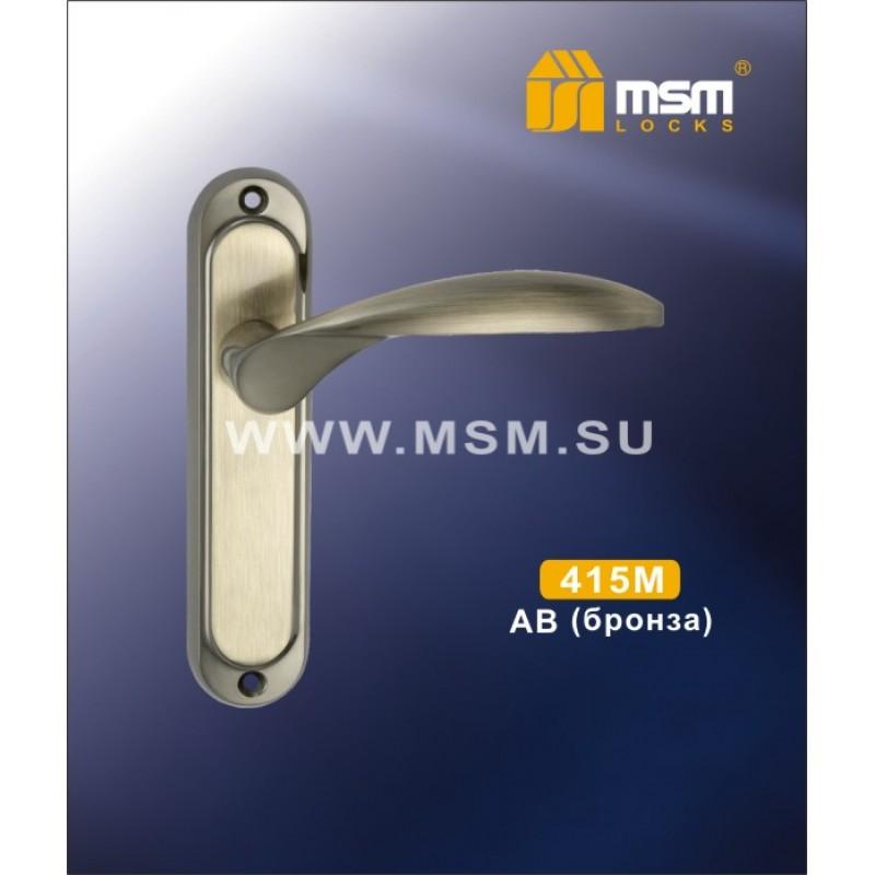 Ручка дверная 415 M AB (бронза) MSM