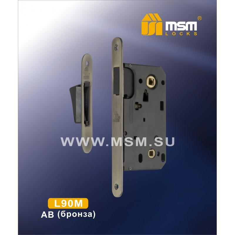 Защелка м/к L 90M AB бронза MSM 00000000438