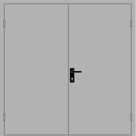 Дверь противопожарная двупольная ДПМ-02 (EI-60)